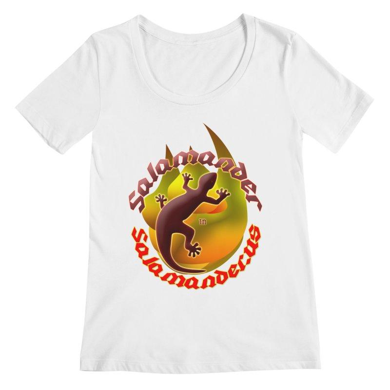 Salamander logo (small flame) Women's Regular Scoop Neck by Logo Gear & Logo Wear
