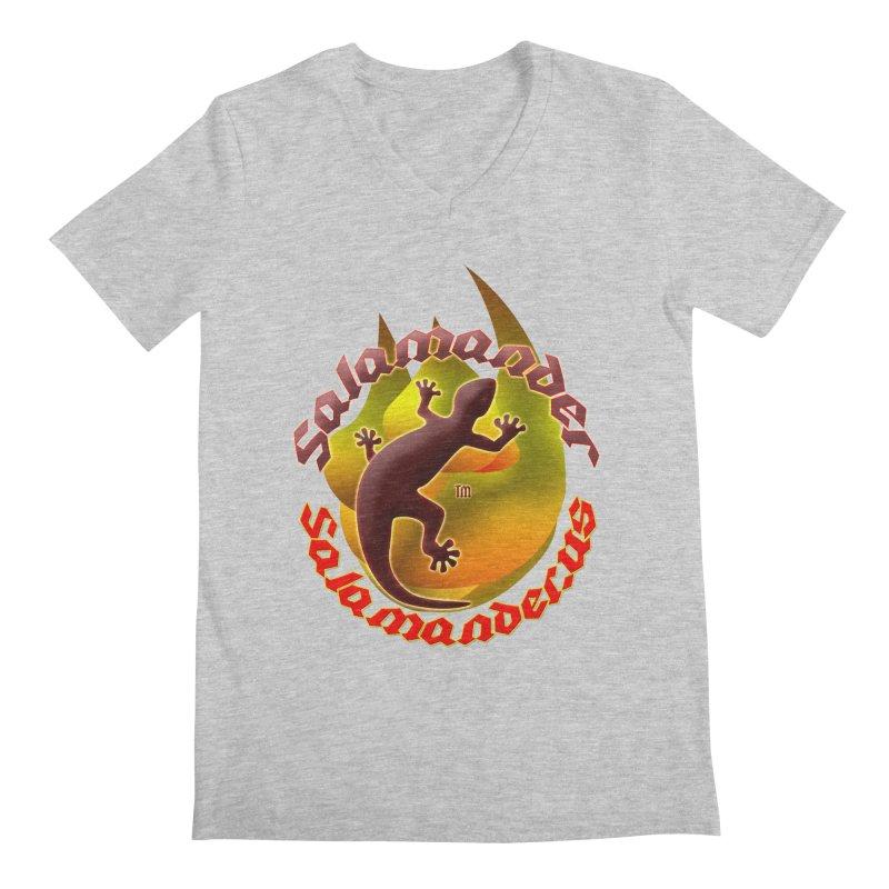Salamander logo (small flame) Men's Regular V-Neck by Logo Gear & Logo Wear