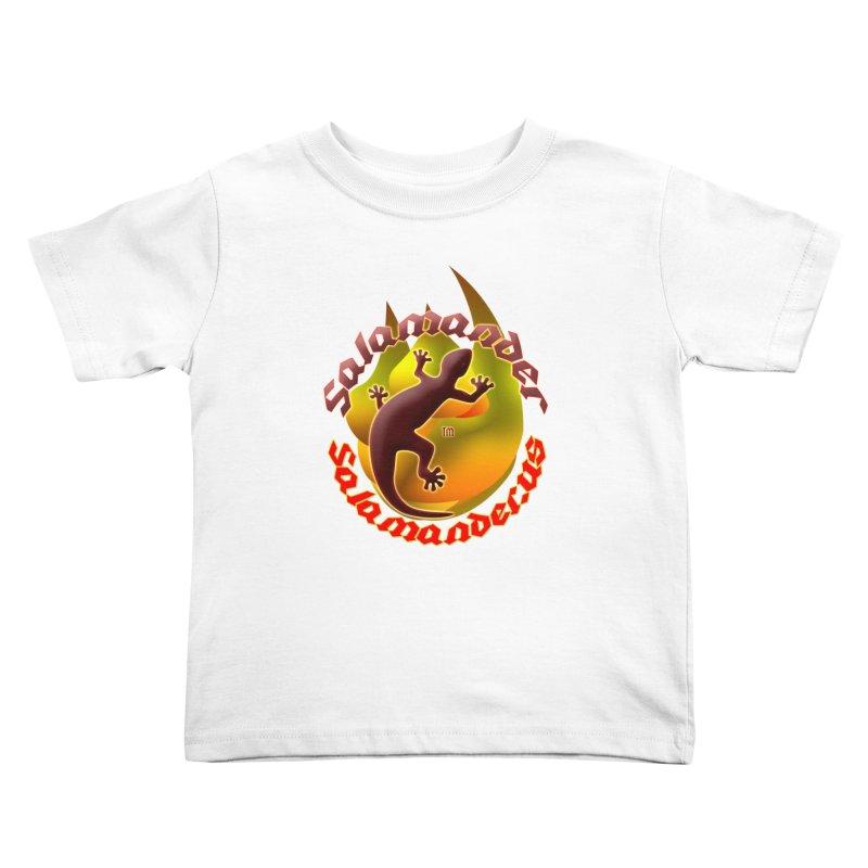 Salamander logo (small flame) Kids Toddler T-Shirt by Logo Gear & Logo Wear