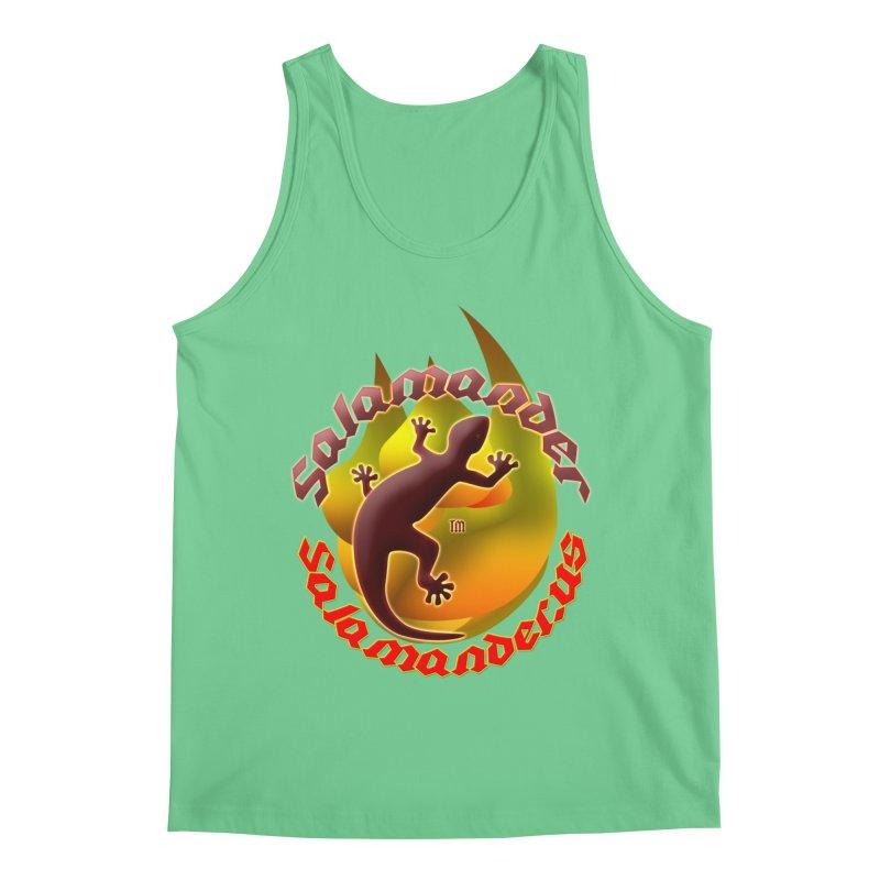 Salamander logo (small flame) Men's Regular Tank by Logo Gear & Logo Wear