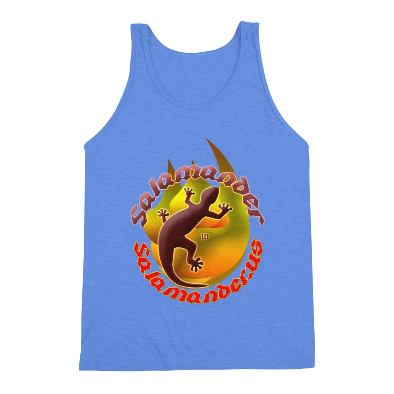 Salamander logo (small flame) Men's Triblend Tank by Logo Gear & Logo Wear
