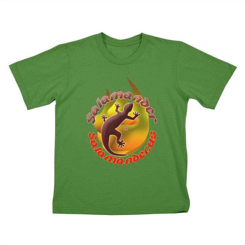 Salamander logo (small flame) Kids T-Shirt by Logo Gear & Logo Wear