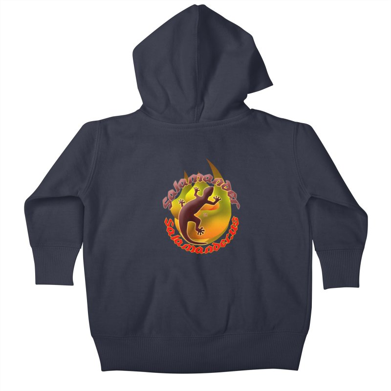 Salamander logo (small flame) Kids Baby Zip-Up Hoody by Logo Gear & Logo Wear