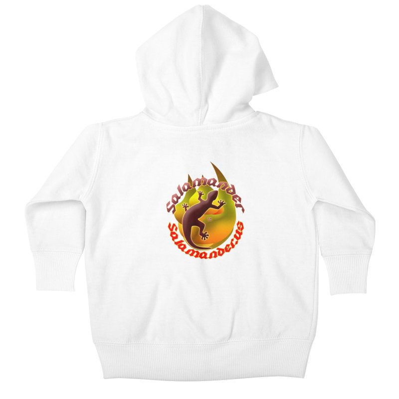 Salamander logo (small flame) Kids Baby Zip-Up Hoody by Logo Gear & Logo Wear