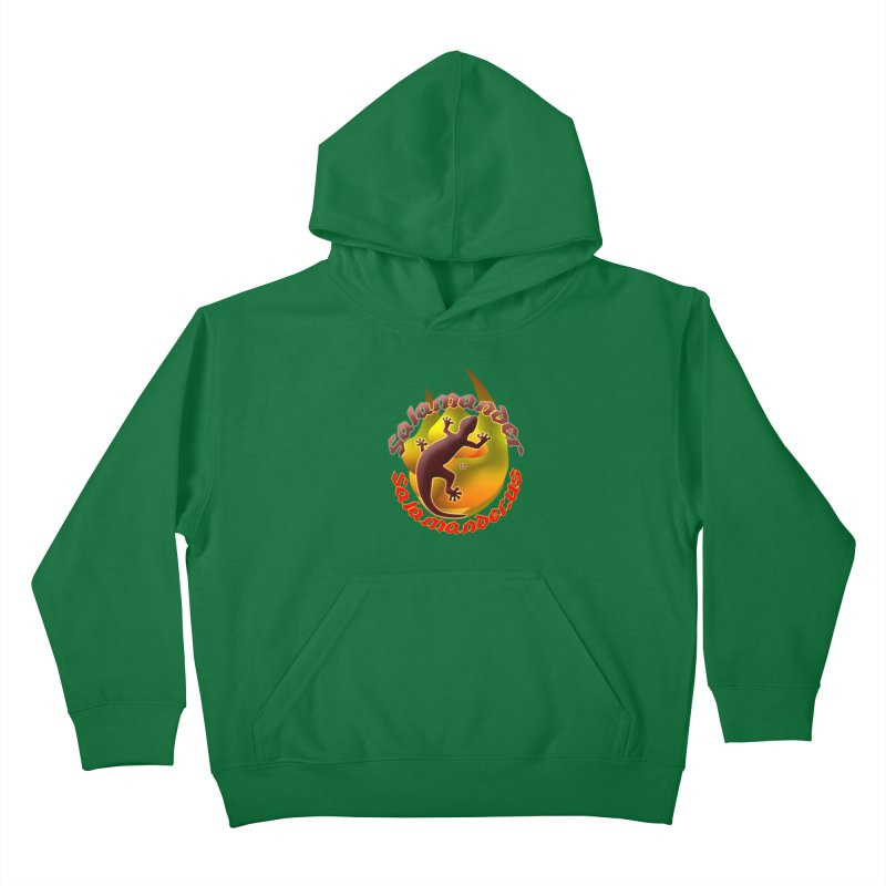 Salamander logo (small flame) Kids Pullover Hoody by Logo Gear & Logo Wear