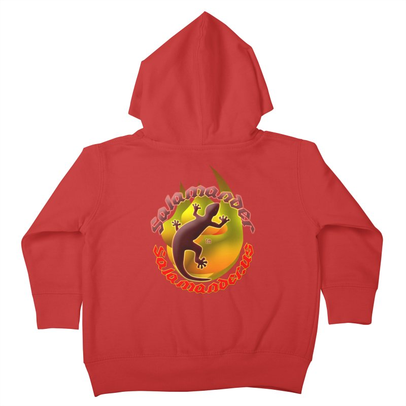Salamander logo (small flame) Kids Toddler Zip-Up Hoody by Logo Gear & Logo Wear