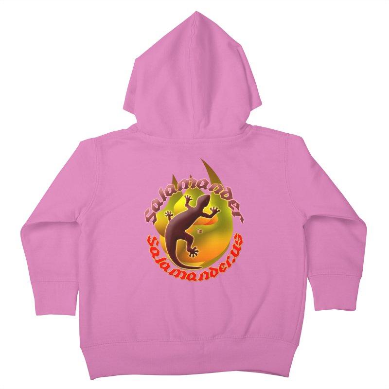 Salamander logo (small flame) Kids Toddler Zip-Up Hoody by Logo Gear & Logo Wear