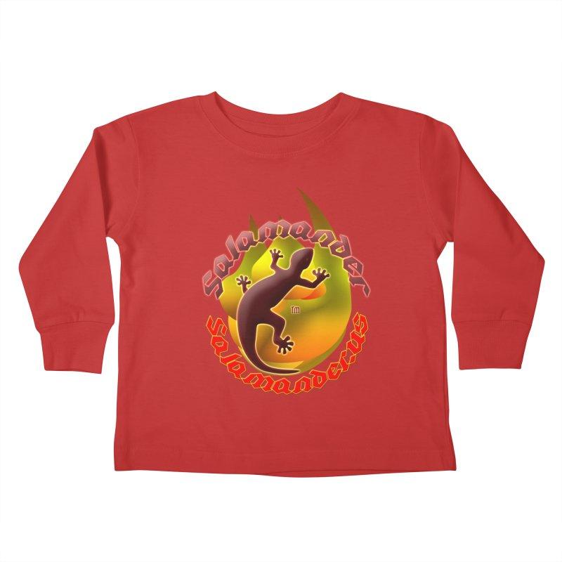 Salamander logo (small flame) Kids Toddler Longsleeve T-Shirt by Logo Gear & Logo Wear
