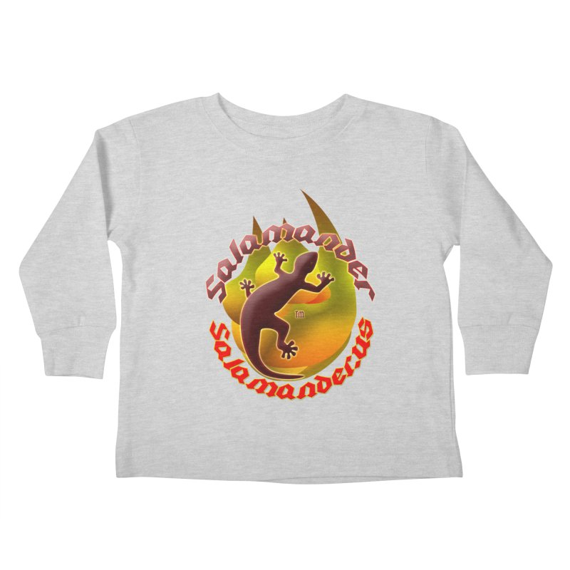 Salamander logo (small flame) Kids Toddler Longsleeve T-Shirt by Logo Gear & Logo Wear