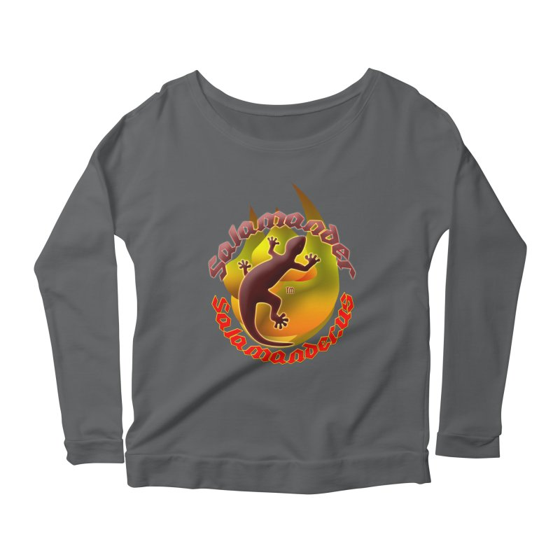Salamander logo (small flame) Women's Scoop Neck Longsleeve T-Shirt by Logo Gear & Logo Wear