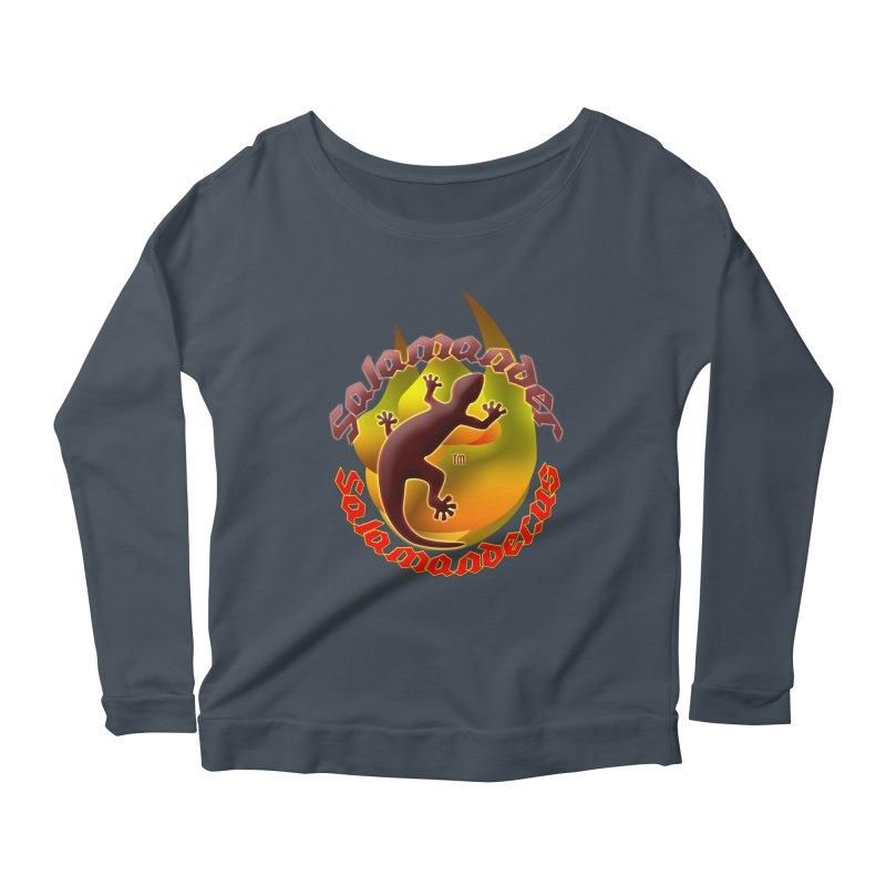 Salamander logo (small flame) Women's Scoop Neck Longsleeve T-Shirt by Logo Gear & Logo Wear