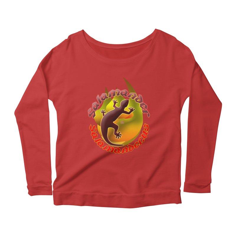 Salamander logo (small flame) Women's Longsleeve Scoopneck  by Logo Gear & Logo Wear