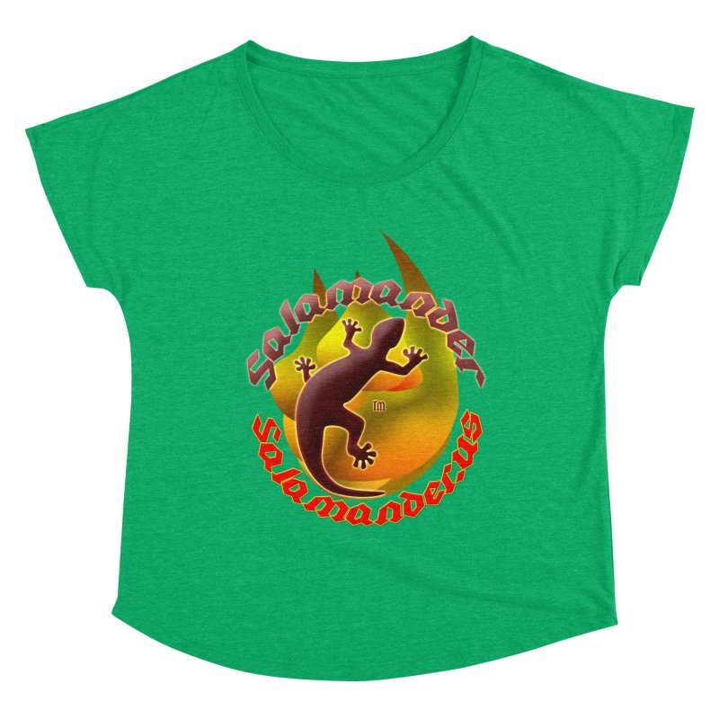 Salamander logo (small flame) Women's Dolman Scoop Neck by Logo Gear & Logo Wear