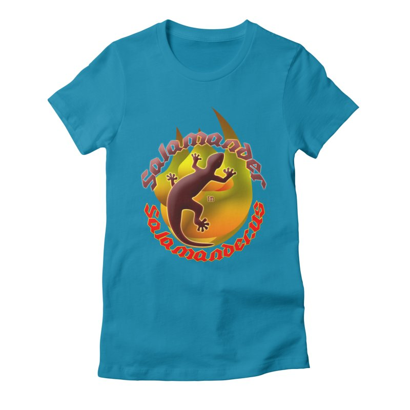 Salamander logo (small flame) Women's Fitted T-Shirt by Logo Gear & Logo Wear