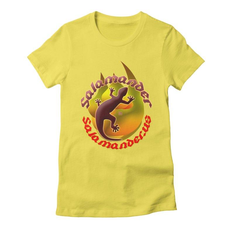 Salamander logo (small flame) Women's Fitted T-Shirt by Logo Gear & Logo Wear