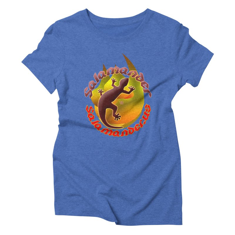 Salamander logo (small flame) Women's Triblend T-Shirt by Logo Gear & Logo Wear