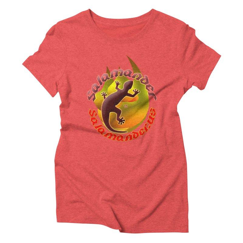 Salamander logo (small flame) Women's Triblend T-Shirt by Logo Gear & Logo Wear