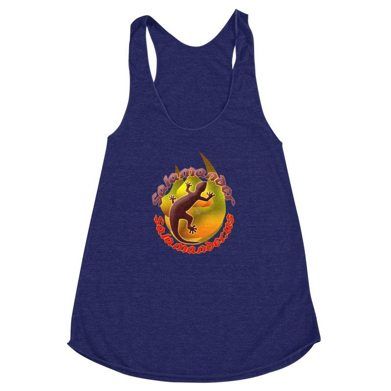 Salamander logo (small flame) Women's Racerback Triblend Tank by Logo Gear & Logo Wear