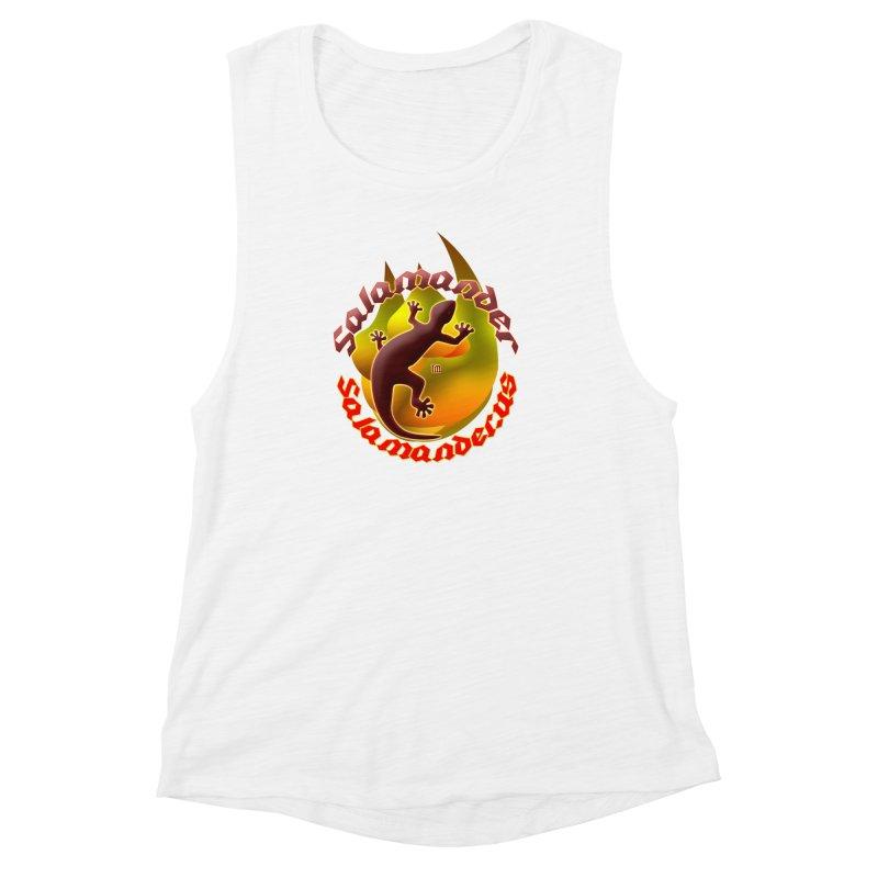 Salamander logo (small flame) Women's Muscle Tank by Logo Gear & Logo Wear