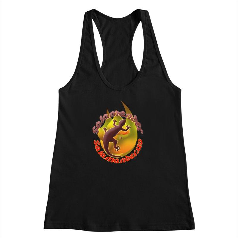 Salamander logo (small flame) Women's Racerback Tank by Logo Gear & Logo Wear