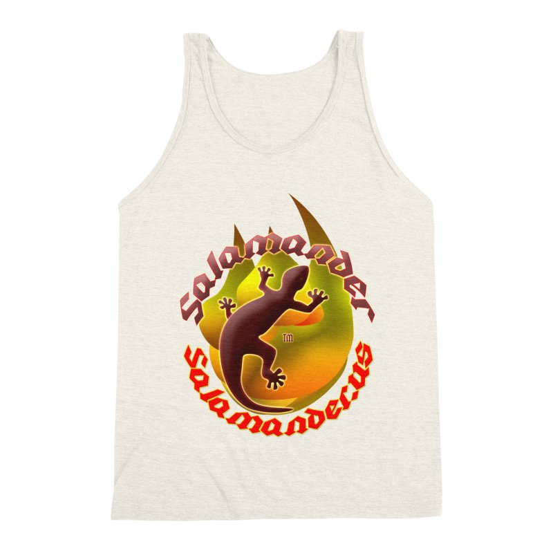 Salamander logo (small flame) Men's Triblend Tank by Logo Gear & Logo Wear