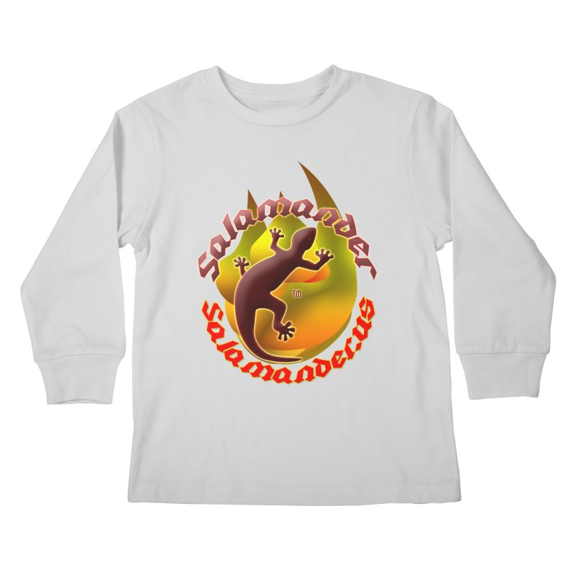 Salamander logo (small flame) Kids Longsleeve T-Shirt by Logo Gear & Logo Wear