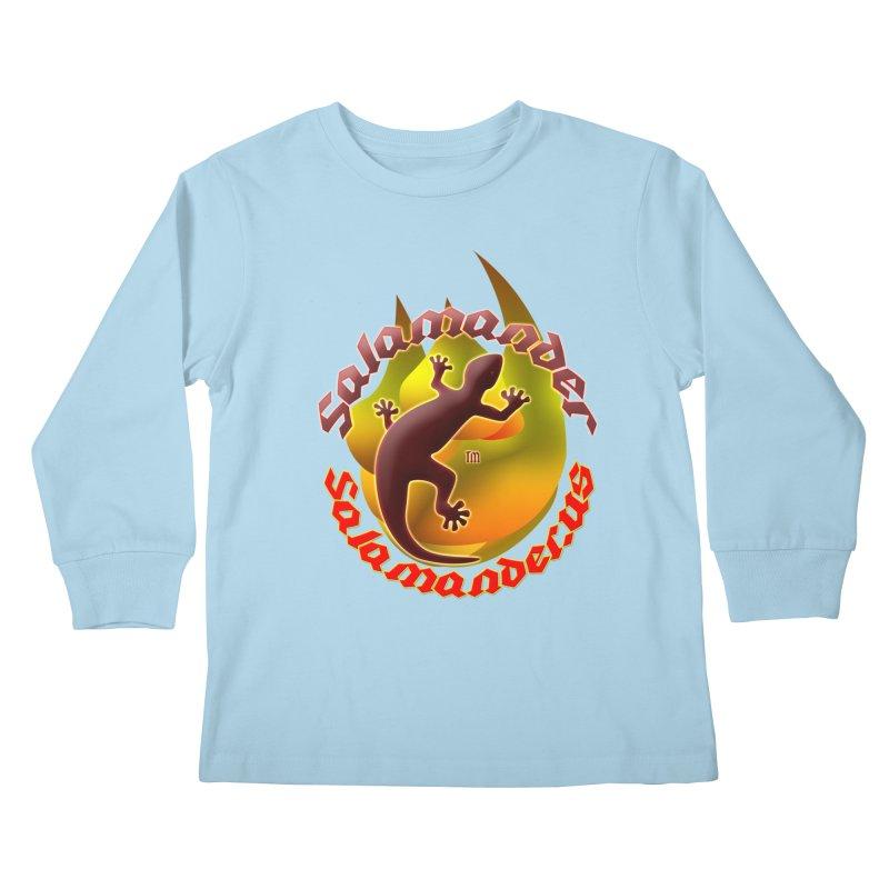 Salamander logo (small flame) Kids Longsleeve T-Shirt by Logo Gear & Logo Wear