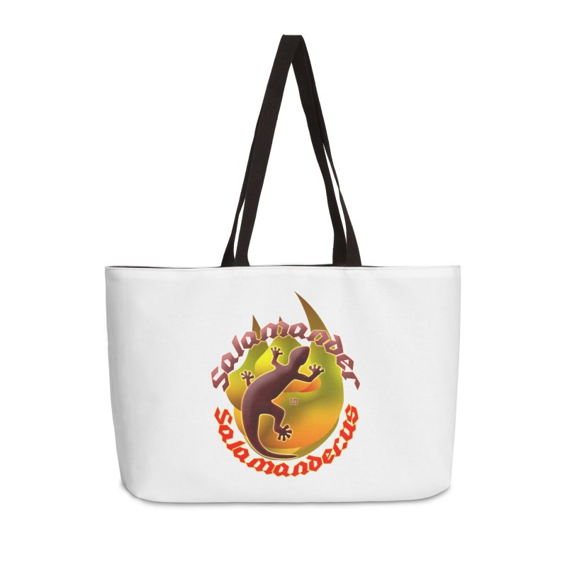 Salamander logo (small flame) Accessories Weekender Bag Bag by Logo Gear & Logo Wear