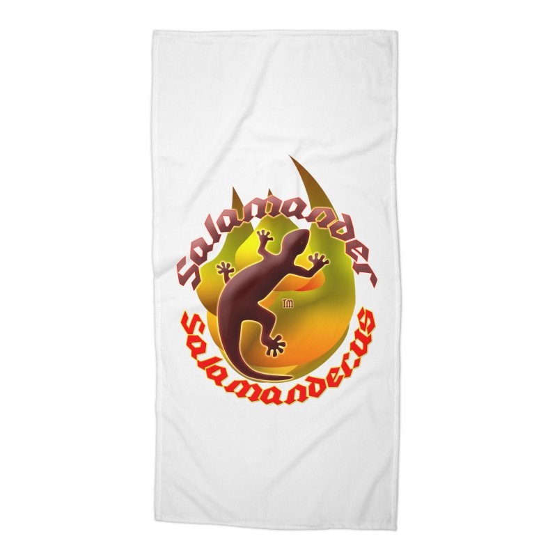 Salamander logo (small flame) Accessories Beach Towel by Logo Gear & Logo Wear