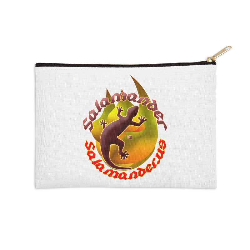 Salamander logo (small flame) Accessories Zip Pouch by Logo Gear & Logo Wear