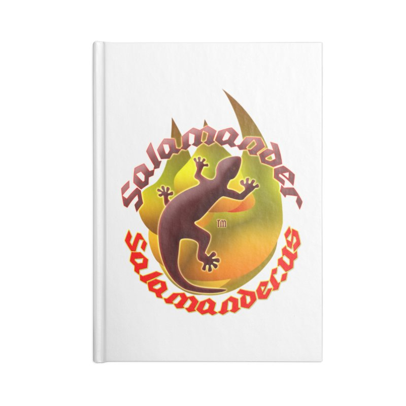 Salamander logo (small flame) Accessories Lined Journal Notebook by Logo Gear & Logo Wear