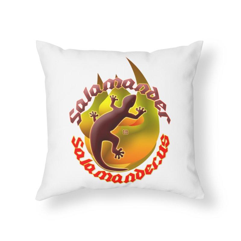 Salamander logo (small flame) Home Throw Pillow by Logo Gear & Logo Wear
