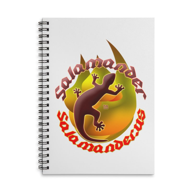 Salamander logo (small flame) Accessories Lined Spiral Notebook by Logo Gear & Logo Wear