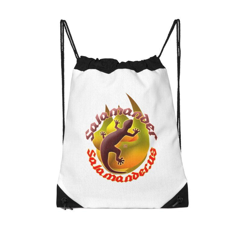 Salamander logo (small flame) Accessories Drawstring Bag Bag by Logo Gear & Logo Wear