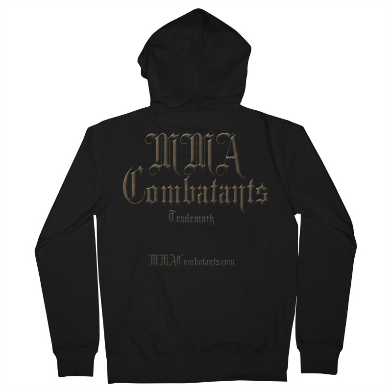MMA Combatants Trademark - MMACombatants.com Men's French Terry Zip-Up Hoody by Logo Gear & Logo Wear