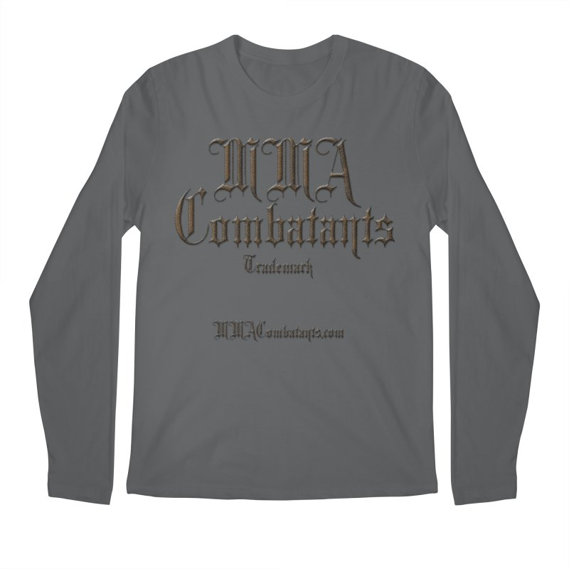 MMA Combatants Trademark - MMACombatants.com Men's Regular Longsleeve T-Shirt by Logo Gear & Logo Wear