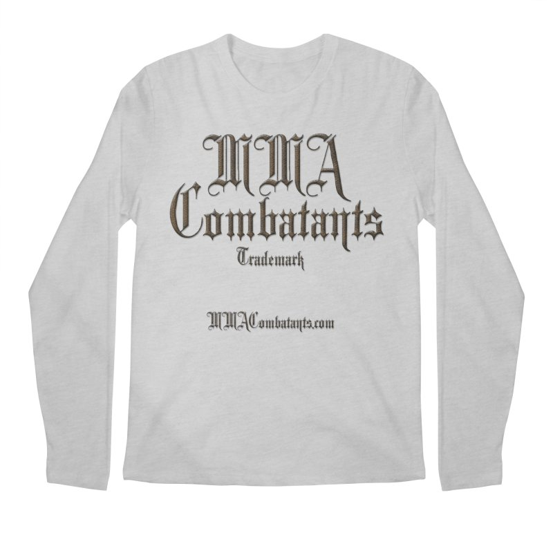 MMA Combatants Trademark - MMACombatants.com Men's Regular Longsleeve T-Shirt by Logo Gear & Logo Wear