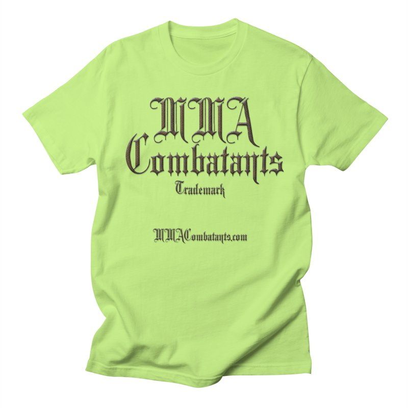 MMA Combatants Trademark - MMACombatants.com Women's Regular Unisex T-Shirt by Logo Gear & Logo Wear