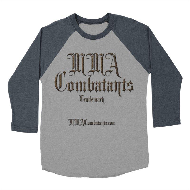 MMA Combatants Trademark - MMACombatants.com Men's Baseball Triblend Longsleeve T-Shirt by Logo Gear & Logo Wear