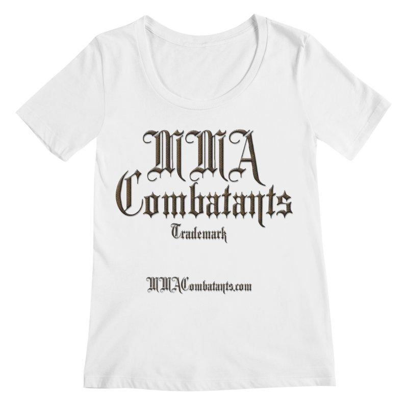 MMA Combatants Trademark - MMACombatants.com Women's Regular Scoop Neck by Logo Gear & Logo Wear