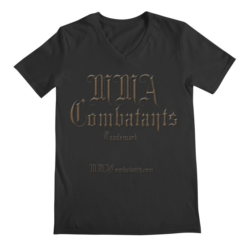 MMA Combatants Trademark - MMACombatants.com Men's Regular V-Neck by Logo Gear & Logo Wear