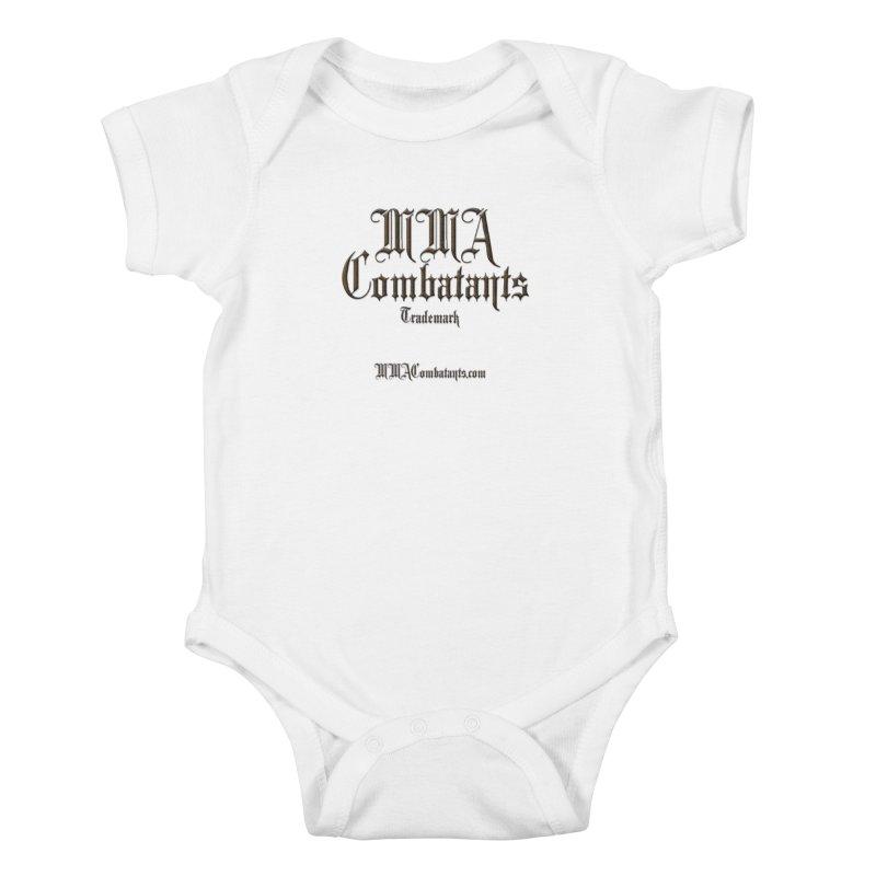 MMA Combatants Trademark - MMACombatants.com Kids Baby Bodysuit by Logo Gear & Logo Wear