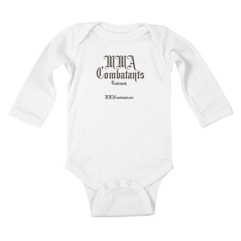 MMA Combatants Trademark - MMACombatants.com Kids Baby Longsleeve Bodysuit by Logo Gear & Logo Wear
