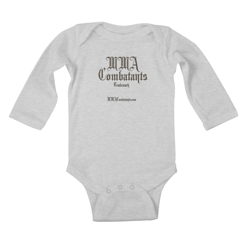 MMA Combatants Trademark - MMACombatants.com Kids Baby Longsleeve Bodysuit by Logo Gear & Logo Wear