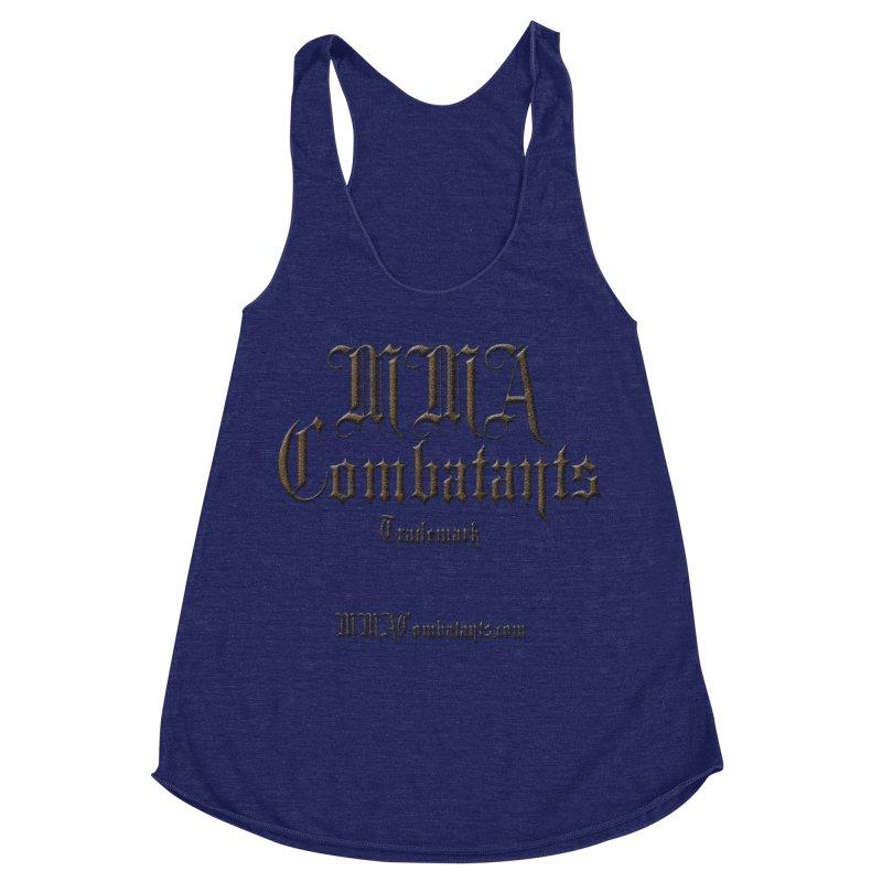 MMA Combatants Trademark - MMACombatants.com Women's Racerback Triblend Tank by Logo Gear & Logo Wear