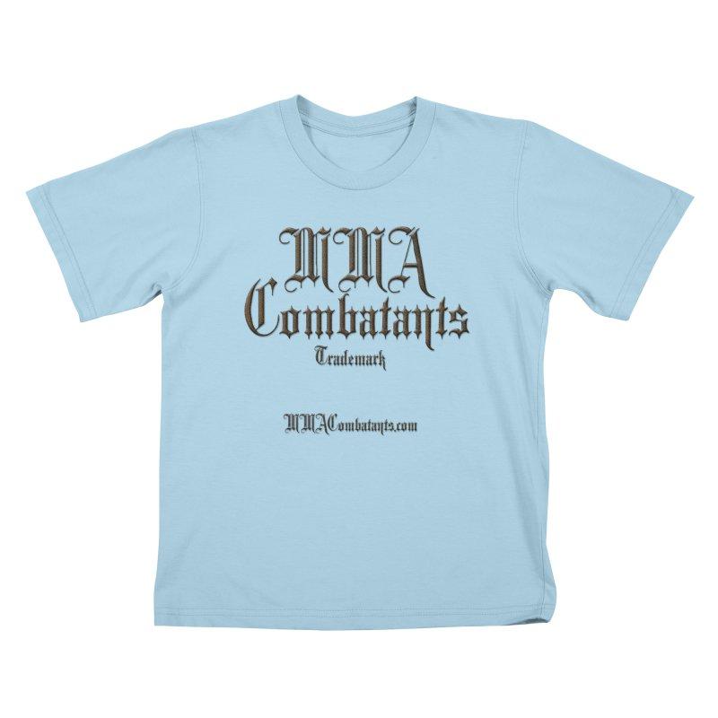 MMA Combatants Trademark - MMACombatants.com Kids T-Shirt by Logo Gear & Logo Wear
