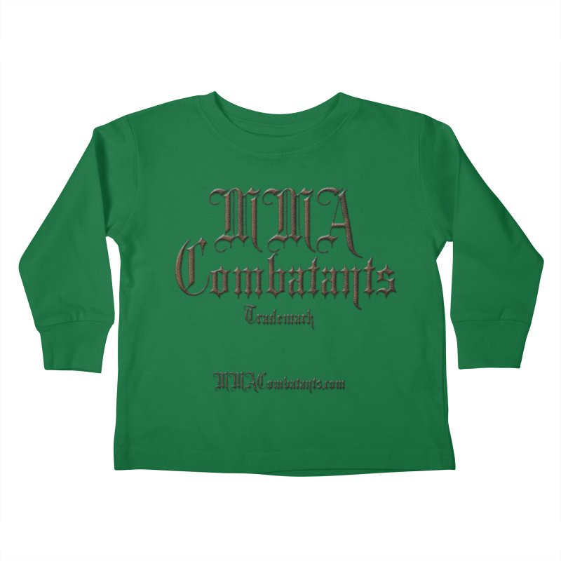 MMA Combatants Trademark - MMACombatants.com Kids Toddler Longsleeve T-Shirt by Logo Gear & Logo Wear