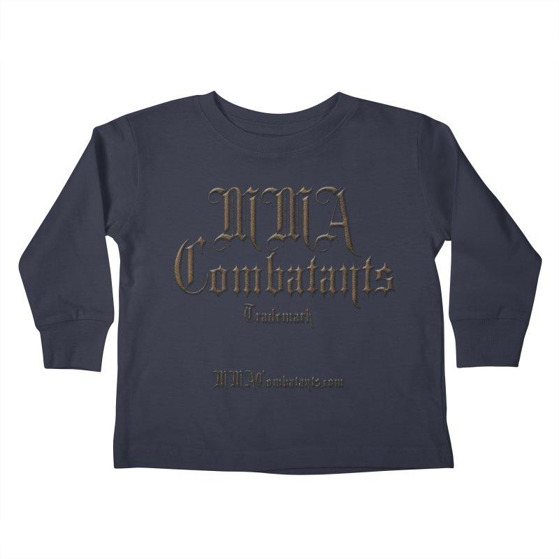 MMA Combatants Trademark - MMACombatants.com Kids Toddler Longsleeve T-Shirt by Logo Gear & Logo Wear