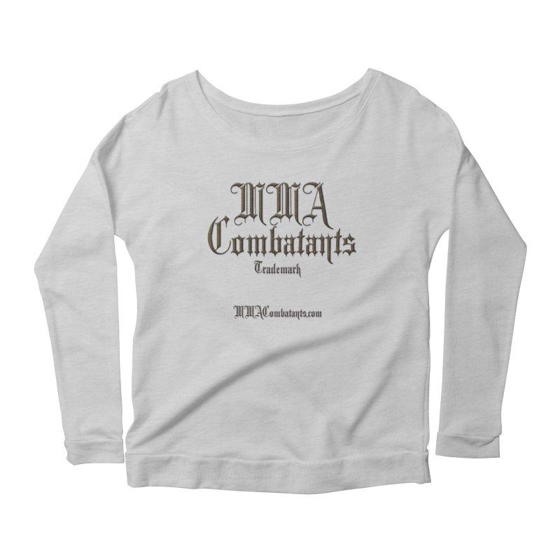 MMA Combatants Trademark - MMACombatants.com Women's Scoop Neck Longsleeve T-Shirt by Logo Gear & Logo Wear