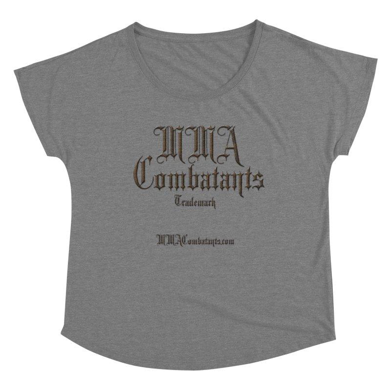 MMA Combatants Trademark - MMACombatants.com Women's Dolman Scoop Neck by Logo Gear & Logo Wear